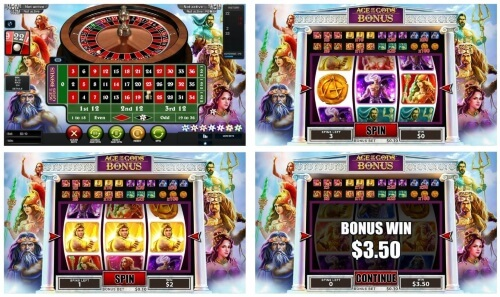 Age of Gods Roulette and Slots Progressive Games